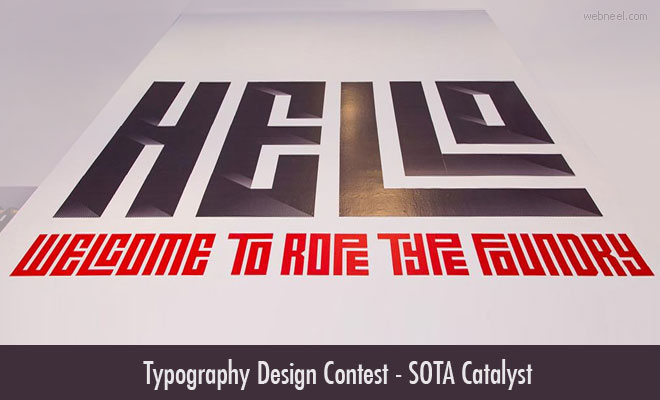 Typography Design Contest SOTA Catalyst Award - Entries by 30 Mar 2020