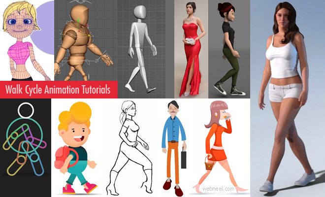 20 Best Human Walk Cycle Animation Tutorials for beginners - 2D and 3D