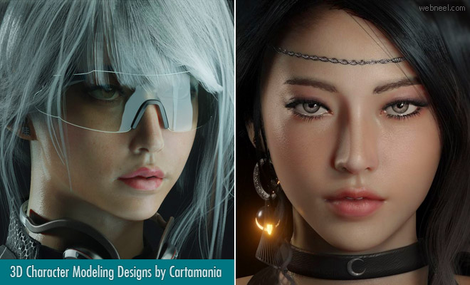 Excellent 3D Character Modeling Designs by Japanese Artist Cartamania