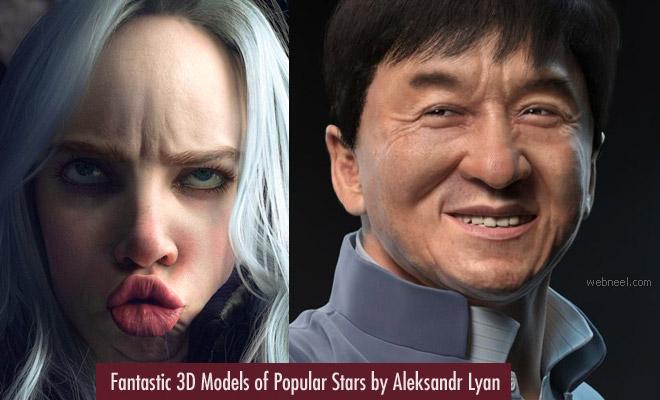 Fantastic 3D Models of Celebrities by Aleksandr Lyan