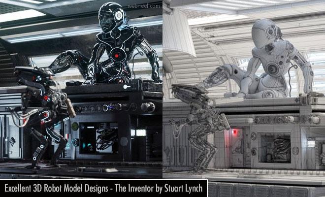 Excellent 3D Robot Model Designs - The Inventor by Stuart Lynch