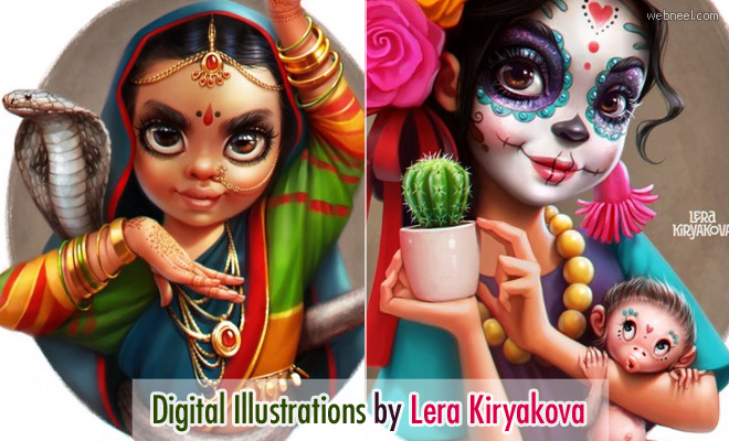 15 Stunning Digital Illustrations and Paintings by Lera Kiryakova
