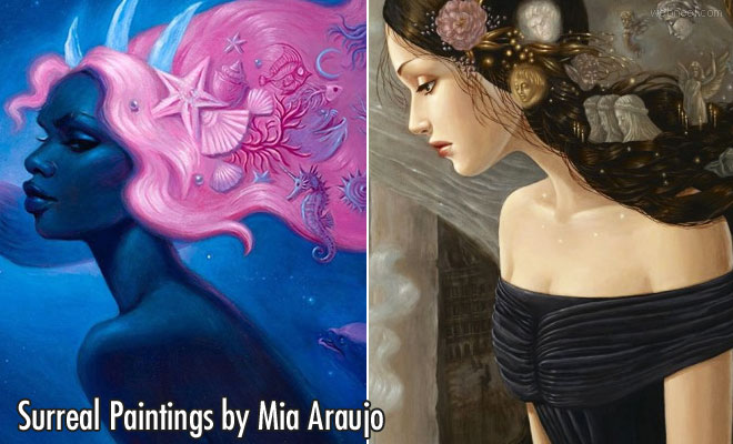 Fantastical Natural Worlds - 15 Surreal Paintings by Mia Araujo