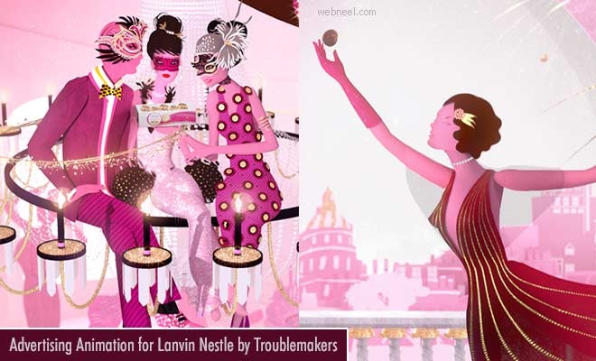 Creative Advertising Animation for Lanvin Nestle by Troublemakers