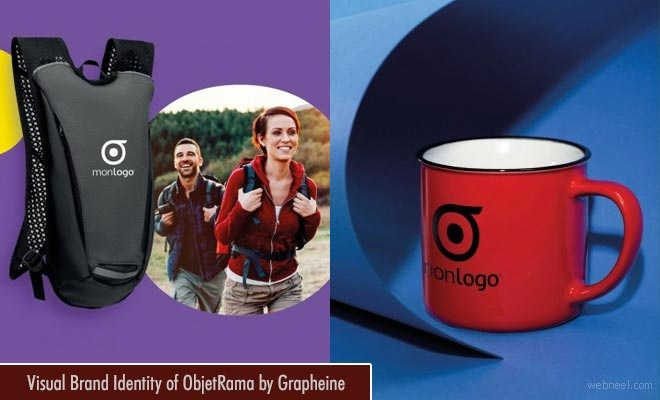 Creative Visual Brand Identity Design of ObjetRama by Grapheine