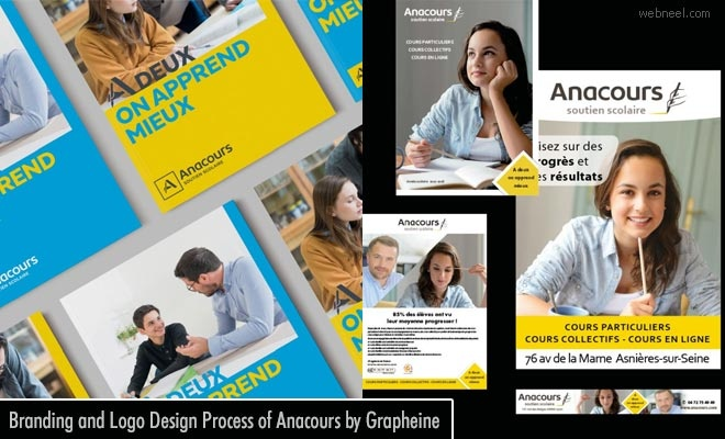 Branding and Logo Design Process of Anacours by Grapheine