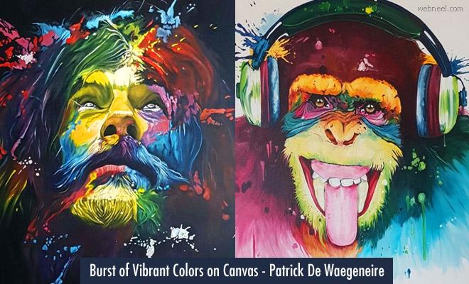 Burst of Vibrant Colors on Canvas - 15 Colorful Oil Paintings by Patrick De Waegeneire