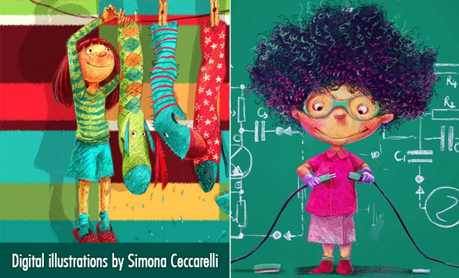 15 Cute Digital illustrations and Character Designs by Simona Ceccarelli