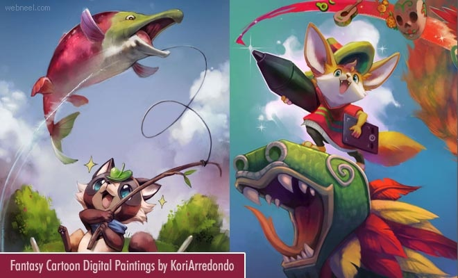 15 Fantasy Cartoon Digital Paintings by Mexican Artist KoriArredondo