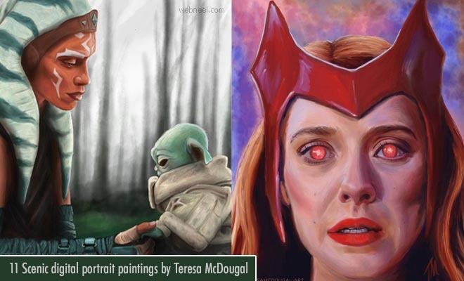 Mysticism unraveled through Vibrant Colors - Digital Portrait Paintings by Teresa McDougal