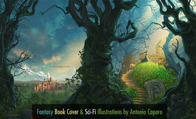 Fantasy Book Cover and Sci-Fi Illustrations by Antonio Caparo