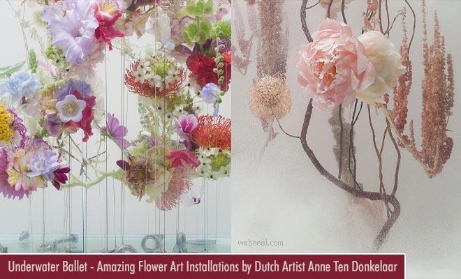 Underwater Ballet - Amazing Flower Art Installations by Dutch Artist Anne Ten Donkelaar