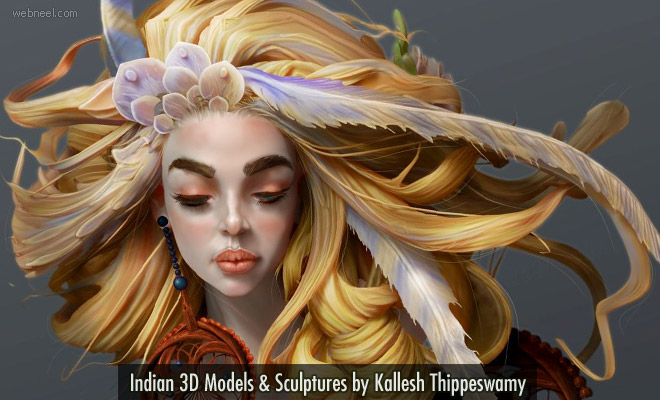 Striking Indian 3D Models and Sculptures by Kallesh Thippeswamy1