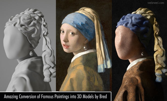 Amazing Conversion of Famous Paintings into 3D Models by Bred