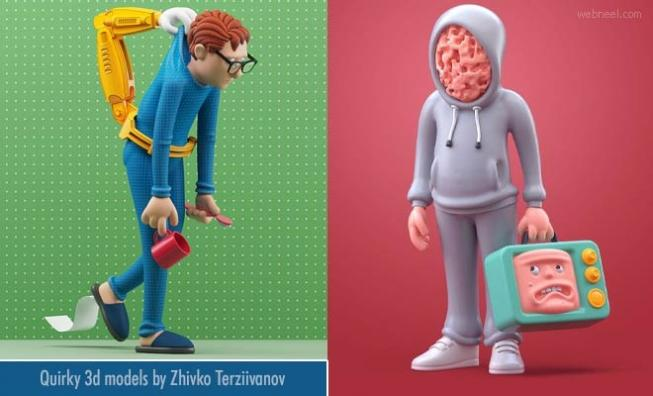 10 Quirky 3d Models and Character Designs by Zhivko Terziivanov1