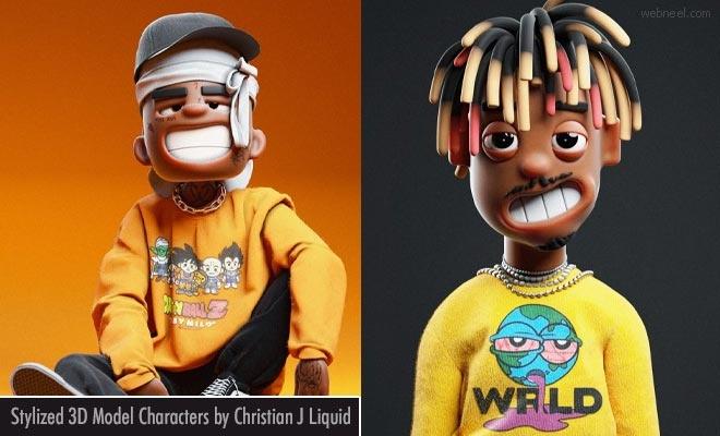 Stylish and Funny 3D Cartoon Models by Christian J Liquid1
