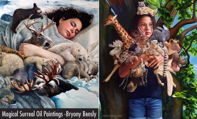 15 Magical Surreal Oil Paintings by British Artist Bryony Bensly