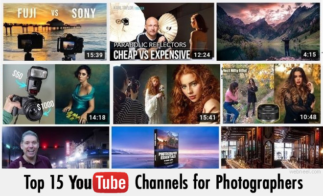 Top 15 YouTube Channels for Photographers - Photography Tutorial Channels