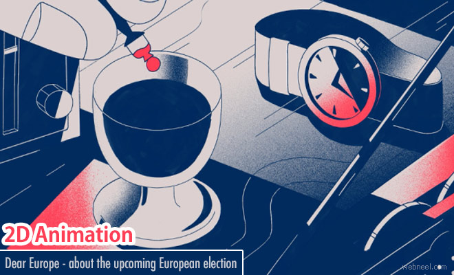 Dear Europe - 2D Animation Video about upcoming European election by Erica Gorochow