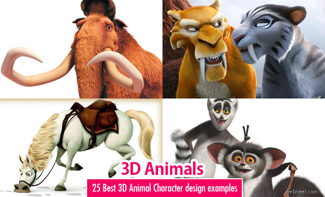 25 Best 3D Animals and Character design examples for your inspiration