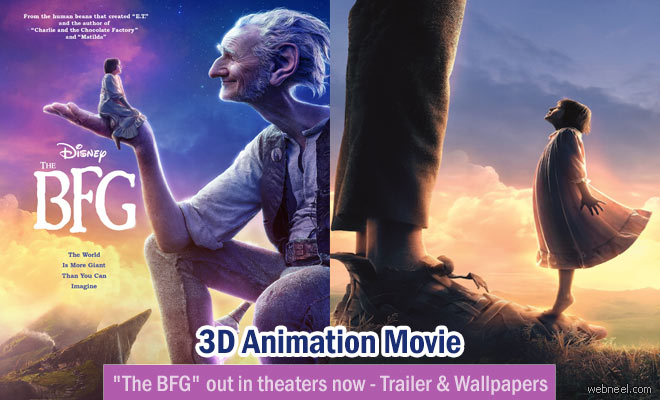 3D Animation Movie The BFG out in theaters now - Trailer and Wallpapers