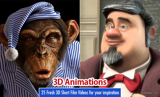25 New 3D Animation Short Film Videos around the world