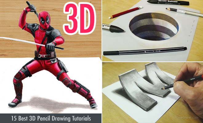 15 Best 3D Drawing Tutorial Videos - How to draw 3D pencil drawings