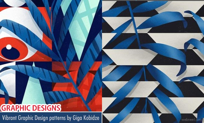 Awakening - A series of vibrant graphic design patterns by Giga Kobidze