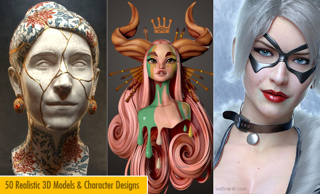 50 Realistic 3D Character designs and Models - Part 3