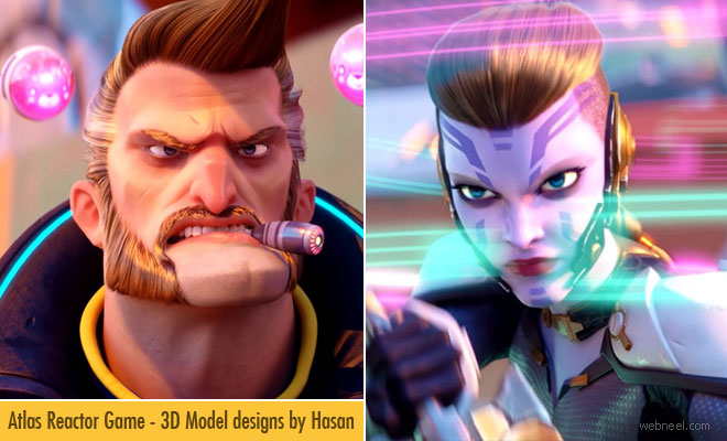 Atlas Reactor Game - 3D Model designs by Hasan Bajramovic