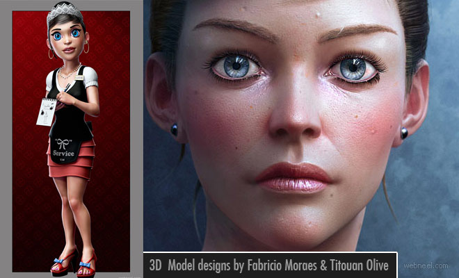 25 Beautiful 3D Character Designs by Fabricio Moraes and Titouan Olive