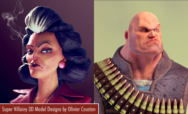 Super Villainy 3D Models and creative Character Designs by Olivier Couston