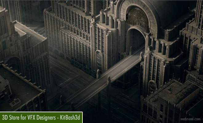 Kitbash3d - 3D Architectural Store for VFX Designers