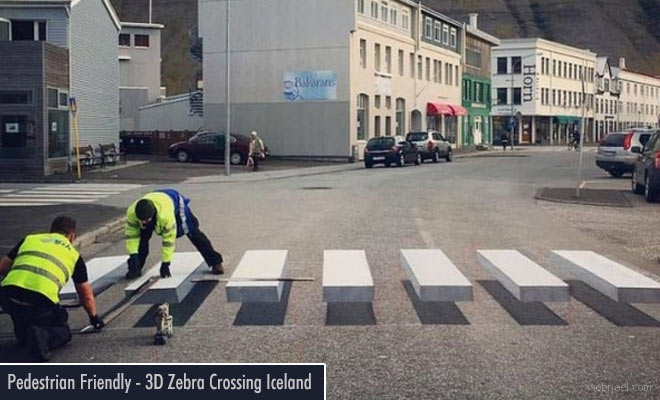 Iceland gets its First 3D Zebra Crossing after a successful venture in India