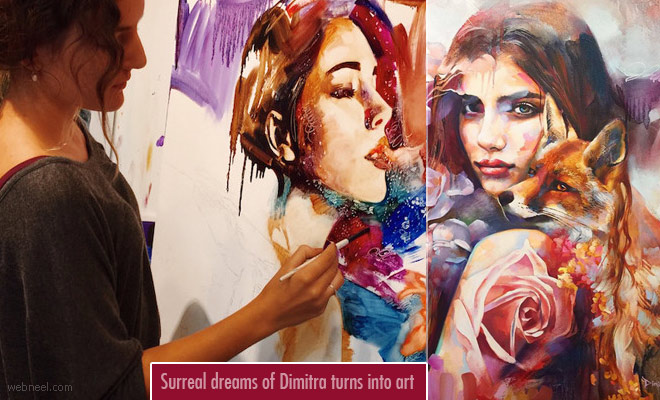 Surreal dreams of Dimitra Milan turns into classic paintings - Surreal Paintings