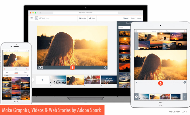 Make Graphics, Videos and Web Stories for Free in Minutes by Adobe Spark