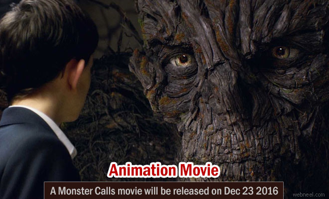 A Monster Calls - Animation movie Trailer and Characters | Release date Dec 23 2016