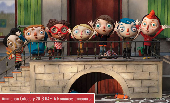 British Academy Film Awards nominations for Animation have been announced