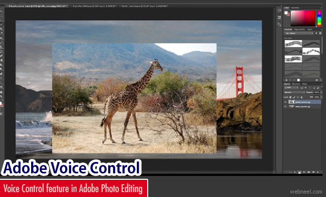 Adobe introduced Voice controlled Feature in Photo Editor