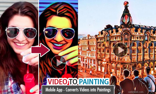 Artisto Mobile App converts Videos into Paintings - Android IOS
