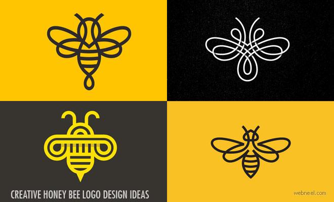25 Creative Honey Bee logo design ideas from Top Designers