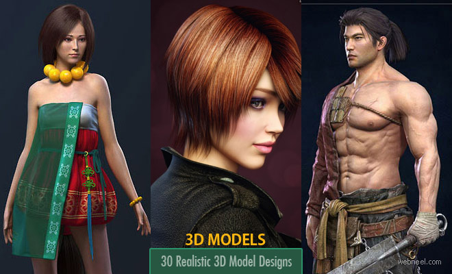 30 Realistic 3D Models and Character Designs from top 3d artists