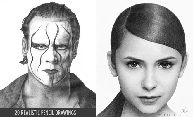 20 Realistic Pencil Drawings from famous artists around the world - 2018
