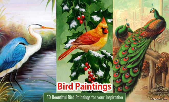 50 Beautiful Bird Paintings from famous artists - Part 2