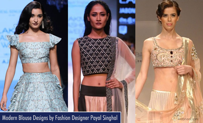 New and Stunning Blouse Designs by Indian Fashion Designer Payal Singhal