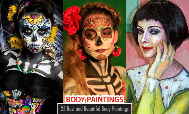 25 Best and Beautiful Body Paintings and Art works