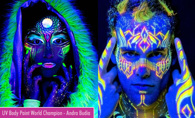 UV Body Painting Artist Andra Budaie stuns world with his latest collections