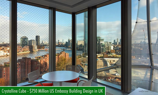 Architecture Design - $750 Million Crystalline Cube Building Designed for the US Embassy in London Completed