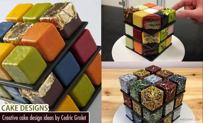 Play with Rubik Cube Cake - Design by Cedric Grolet1