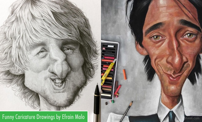 Funny and Creative Caricature Drawings by Efrain Malo